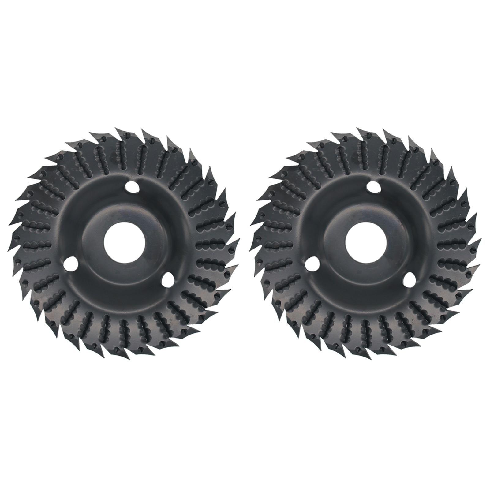 KKmoon 1pcs/2pcs Angle Grinder Grinding Disc 28 Teeth Wood Grinding Wheel Abrasive Disc Woodworking Wood Shaping Disc