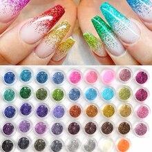 60 Stks/partij Mixed Ontwerp Nail Art Glitter Sparkly Paillette Dust Poeder Schoonheid Decoratie Nail Glitter Voor Uv Gel Acryl JINJ151