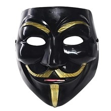 Halloween Cosplay Masks V For Vendetta Movie Anonymous Mask For Adult Kids Film Theme Mask Party Gift Cosplay Costume Accessory