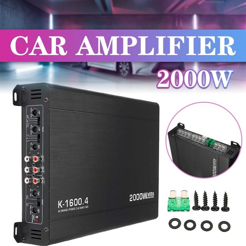 2000W 4 Channel Car Amplifier Speaker Vehicle Amplifier Power Stereo Amp Auto Audio Power Amplifier Car Audio Amplifier