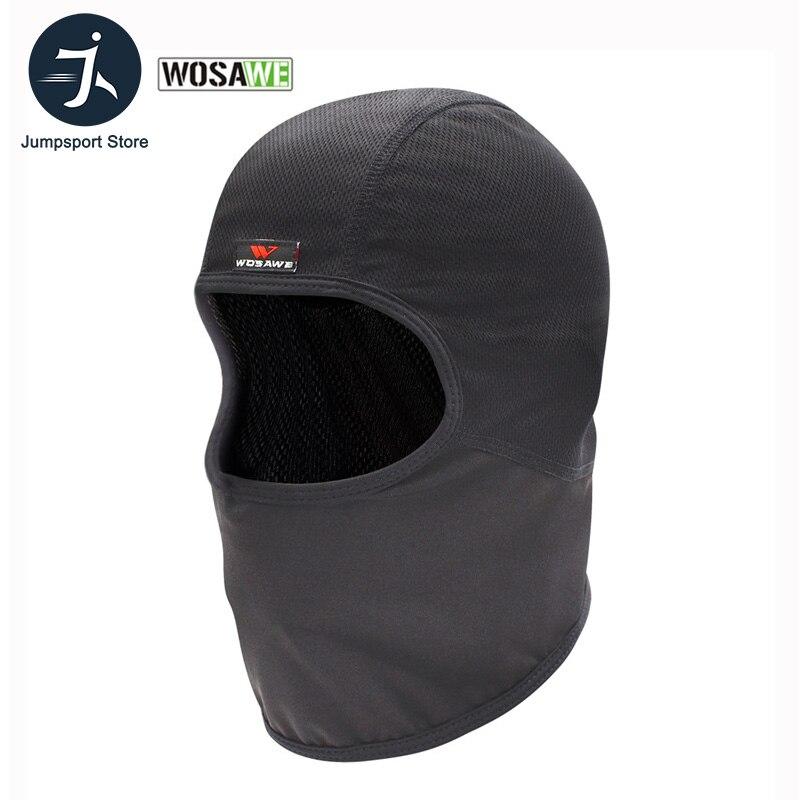 WOSAWE Breathable Mesh Cycling Helmets Inner Caps Anti-Sweat Hat Motorcycle Motocross Racing Ski Under Helmet Lining Mask Caps