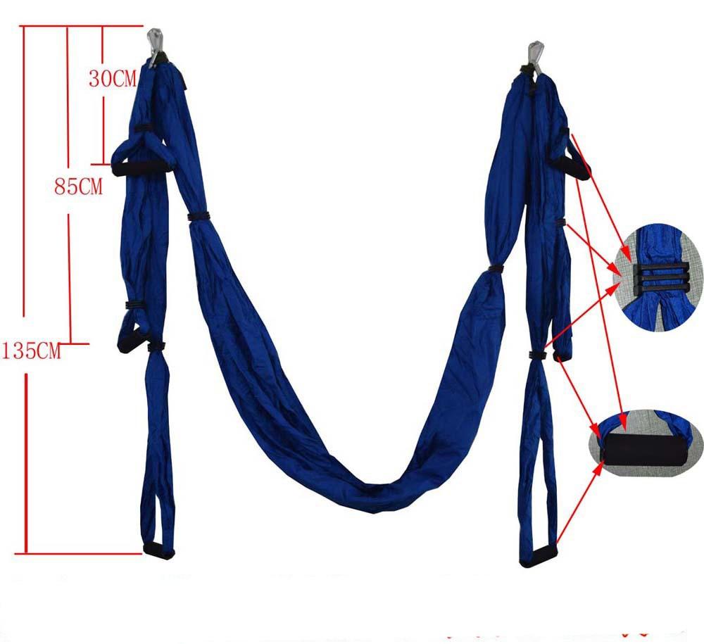 Yoga Hammock Gym Strength Inversion Anti-Gravity Aerial Traction Swing Yoga Belt Set