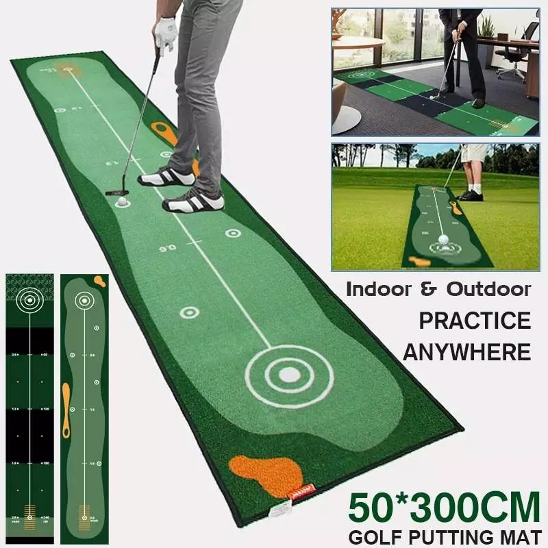 Golf Practice Carpet Putting Mat Thick Smooth Practice Putting Rug For Indoor Home Office Golf Grass Mat Green Putting Cushion