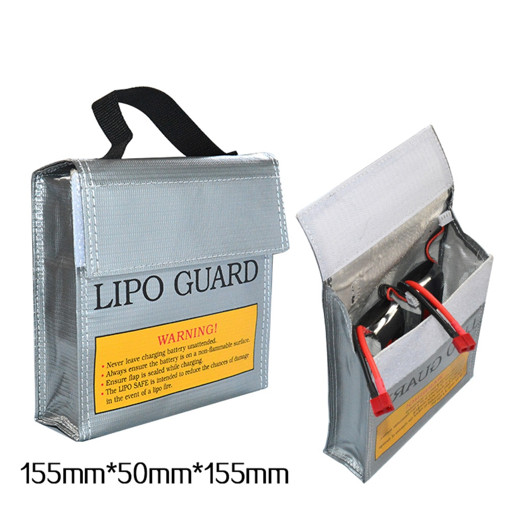 LiPo Li-Po Akku Brandschutz Sicherheit Guard Sichere Tasche 155*50*155MM Bolsa de batería ein prueba de explosiones Saco à prova de explosã