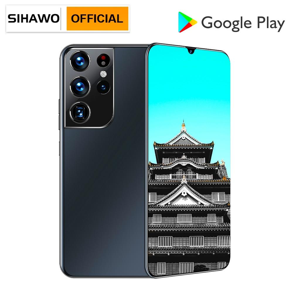 8GB RAM 256GB ROM Android 11 Dual SIM 4G Smart Phone Call MTK6889 Octa Core 6.7 inch 1440x3200 Resolution Phone Ultrathin Tablet