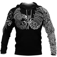 viking pattern men%e2%80%98s hoodie 3d all over printed unisex springautumn casual pullover loose zip hoodies streetwear dropshipping