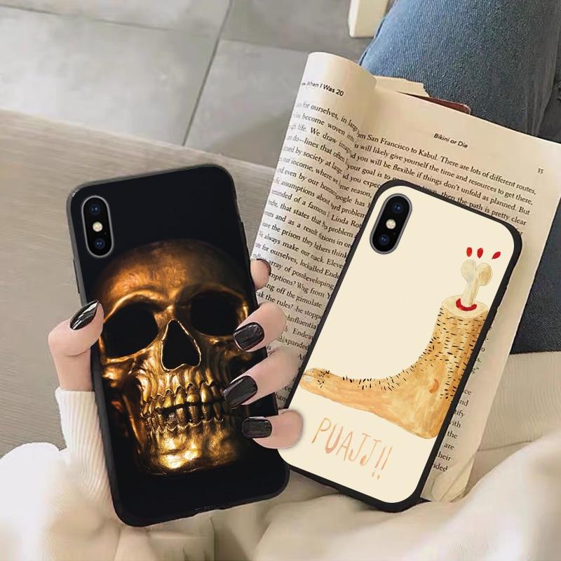 Phone Case For Xiaomi Mi 8 6 SE Lite Global Version TPU Cover Cases For Xiomi MI F1 8LITE MI8 MI6 8SE caracasa Skull