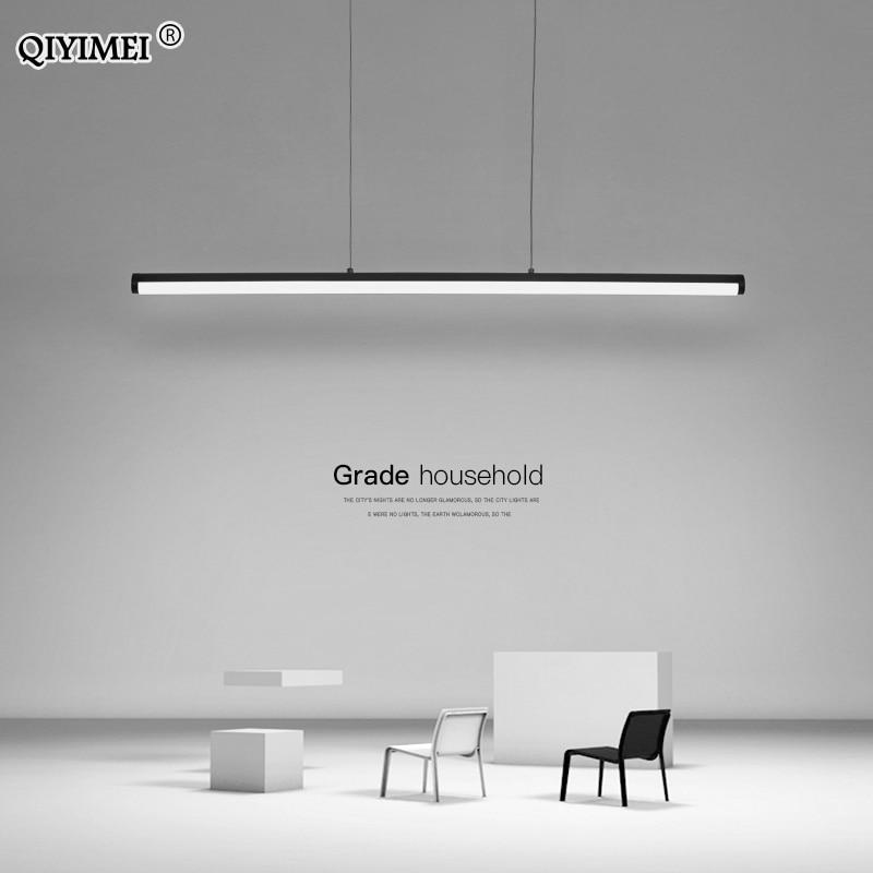 أضواء قلادة حديثة بسيطة ، إضاءة LED قابلة للتعديل مع جهاز تحكم عن بعد لغرفة الطعام وغرفة الدراسة