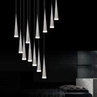 Modern minimalist bar restaurant multi-head molecular rotating pendant lamps Nordic bedroom bedside metal pendant lights