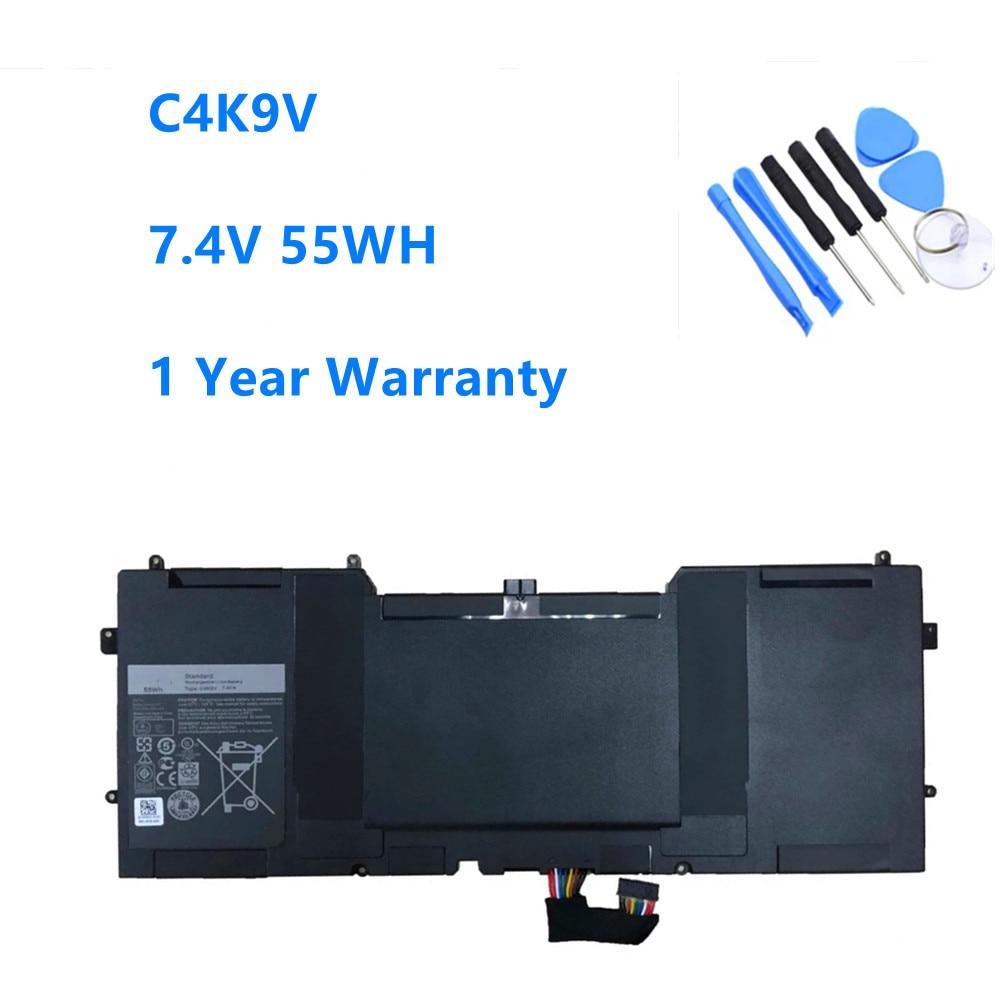 7.4V 55WH C4K9V Laptop Battery for DELL XPS 13 9333 L322X 13-L321X L221x 9Q33 3H76R 0Y9N00 489XN PKH