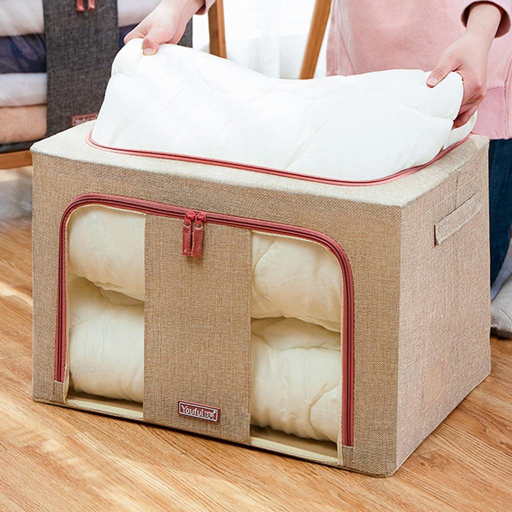 Bolsas de almacenamiento de 66 litros Oxford bolsas de almacenamiento plegables impermeables ropa colcha armario suéter organizador caja bolsa hogar