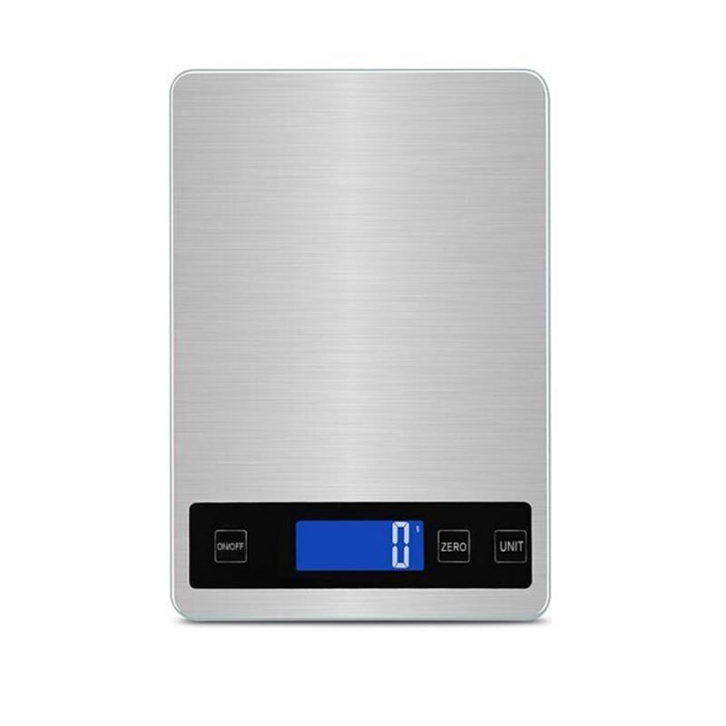 1PC Edelstahl Digital USB Küche Waagen 10kg/5kg Elektronische Präzision Ernährung Skala Kochen Backen werkzeuge Bascula Cocina