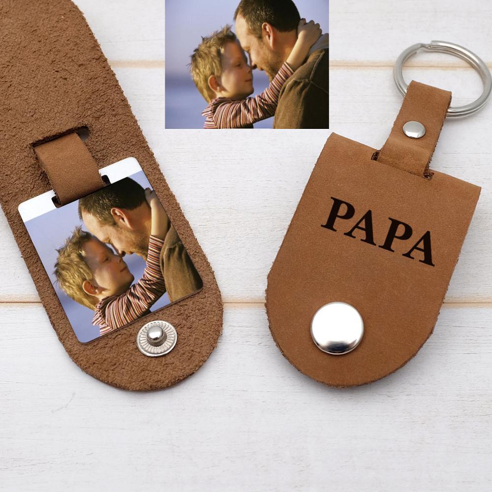 Персонализированный брелок для фотографий, брелок для фотографий на заказ, брелок для фотографий в подарок ему, подарок на день отца, день р...