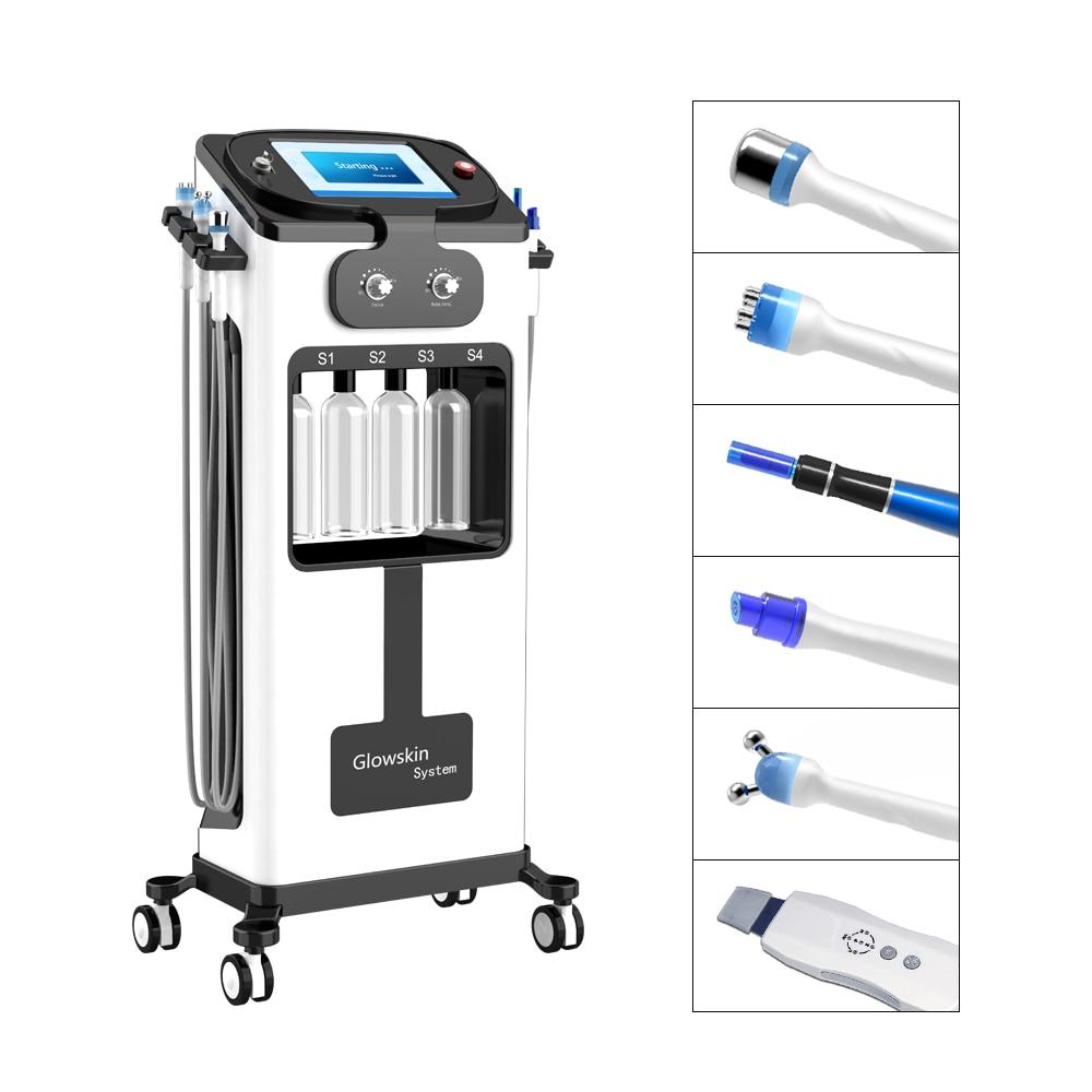 Máquina hidrafacial de microdermoabrasión, galvánico, para limpieza facial, spa, exfoliante, hidrofacial, aqua