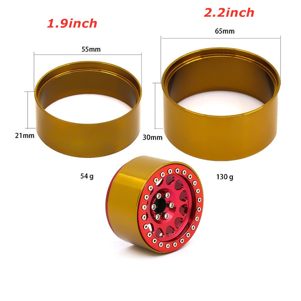 1.9inch/ 2.2inch Copper Rim for RC Crawler Wheel Hub Counterweight XW0265