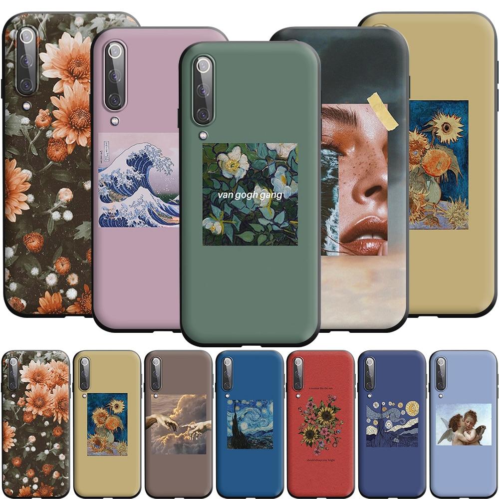 Aesthetic Van Gogh Mona Lisa Angel Silicone Case for Xiaomi MI 8 9 9T A2 A3 10 Note Lite Pro SE Max 3 F1