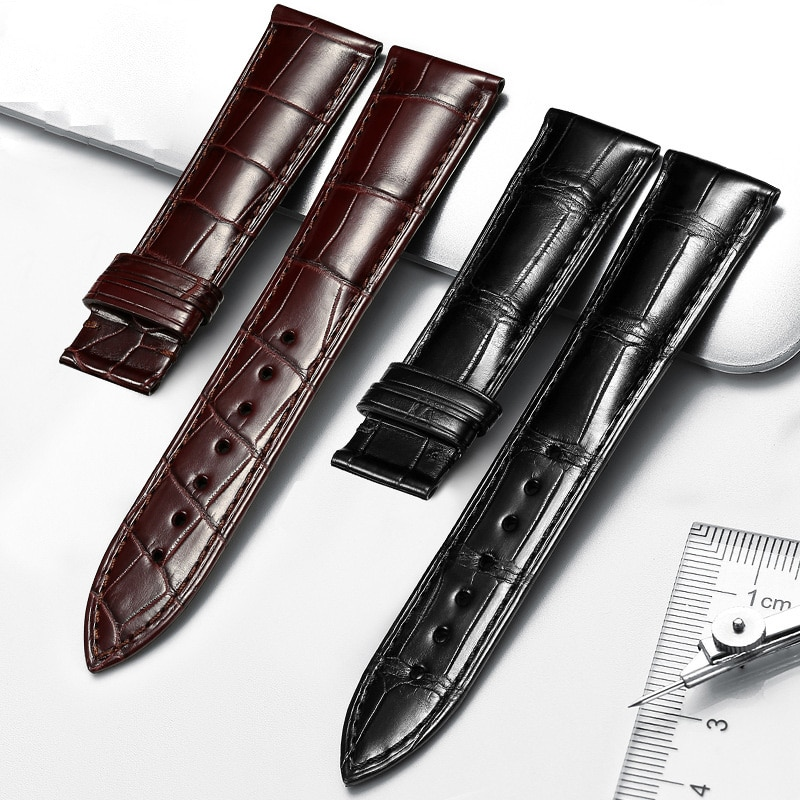 Double-sided American crocodile leather butterfly buckle world famous watch strap men's leather strap accessories 7-53