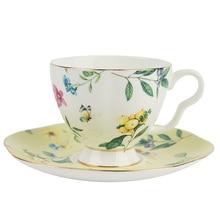 Set de taza de café o té de lujo Bone China Ceramics, tazas de café expreso reutilizables y platillos Kahve Fincan Takimlari, taza de porcelana EA60BD