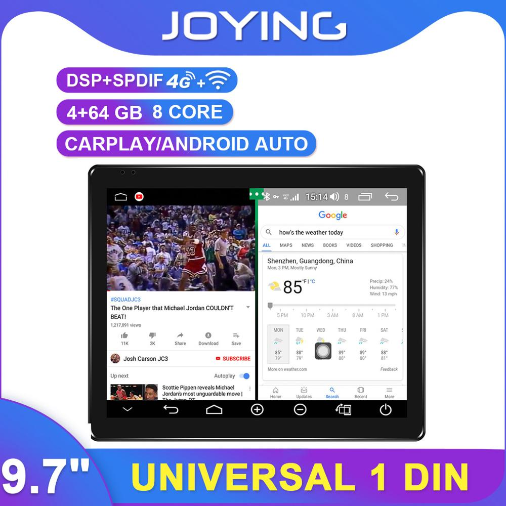 "Tesla Style Rotable 9.7 ""1Din universel Android autoradio GPS Carplay DSP SPDIF Subwoofer WiFi 4G SIM Bluetooth 5.1 DVR"