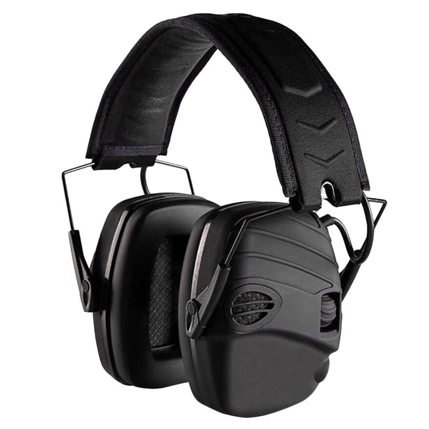 سماعات أذن إلكترونية MOOL NRR 25DB حماية إلكترونيات الصيد والصيد يفشل الأذن (أسود)