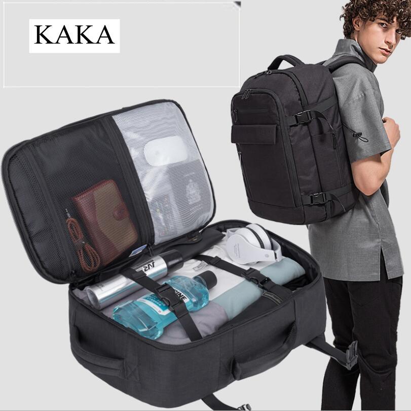 KAKA-حقيبة ظهر أكسفورد المقاومة للماء للرجال ، حقيبة ظهر للكمبيوتر المحمول مقاس 15.6 بوصة ، حقيبة سفر مدرسية للرجال ، حقيبة ظهر للمراهقين
