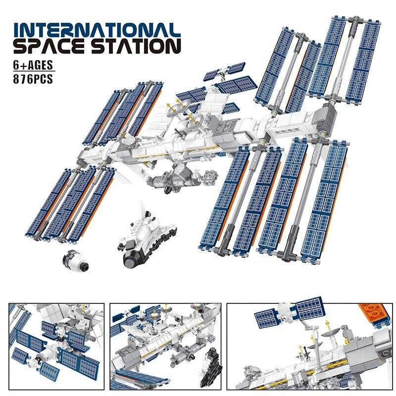 2020 nouvelles idées créateur Station spatiale internationale blocs de construction Kit briques modèle classique enfants cosmonaute jouet pour enfants cadeau