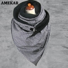 Scarves Women Soild Dot Printing Button Soft Wrap Scarves Shawls Head Face Neck Gaiter Outdoor Print