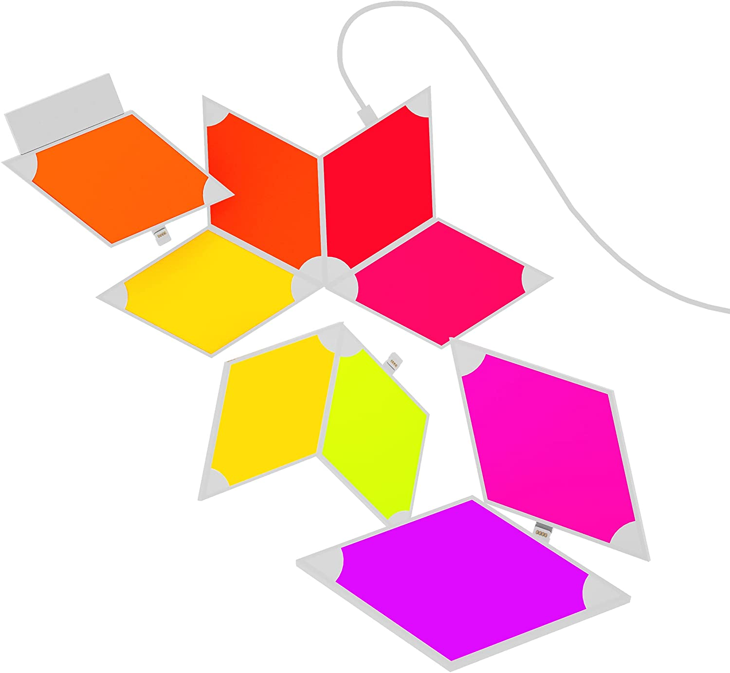 Triangle Light Panels Wall-Mounted Smart Kit, WiFi Lighting Lamp RGB LED Wall Light Panels Gaming Room, Party Decor enlarge