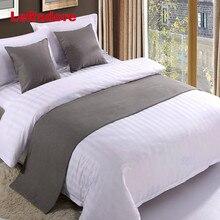 Effen Bed Runner Hotel Sjaal Set Protector Hoes Bed Decoratieve Sjaal Koning Voor Hotel Slaapkamer Bruiloft Kussenhoes Teal Blauw