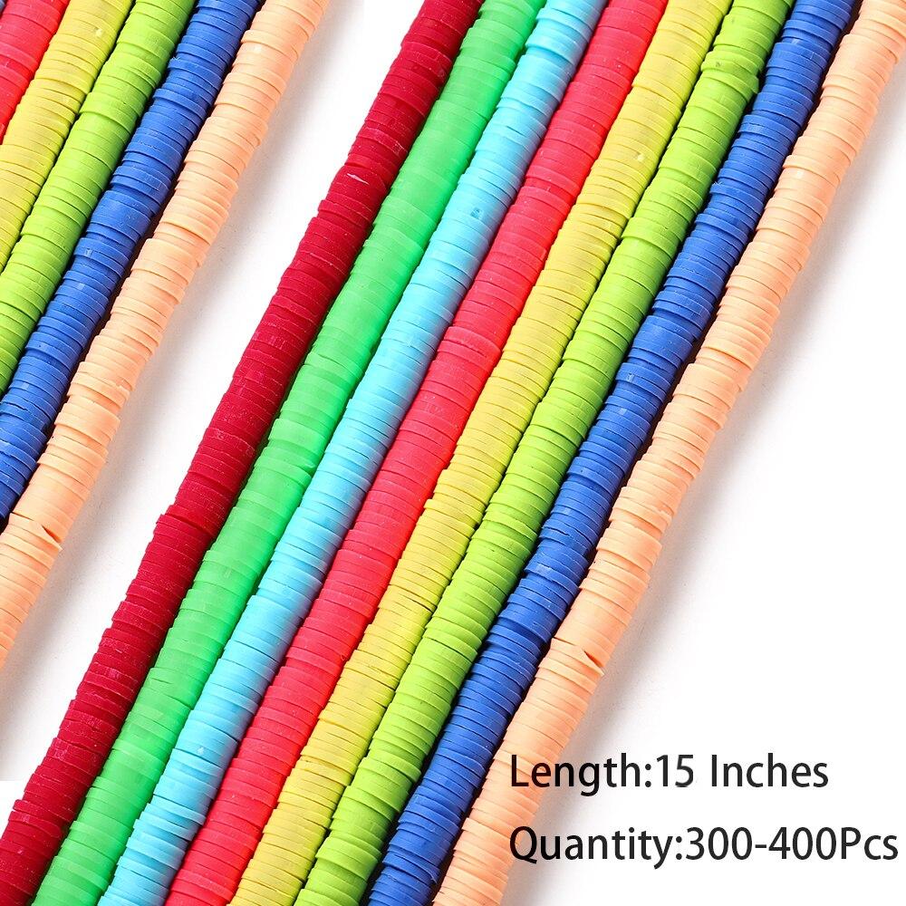 3-8mm boho disco africano contas de argila macia plana redonda cores misturadas chip disco solto espaçador grânulos para diy jóias que fazem acessórios