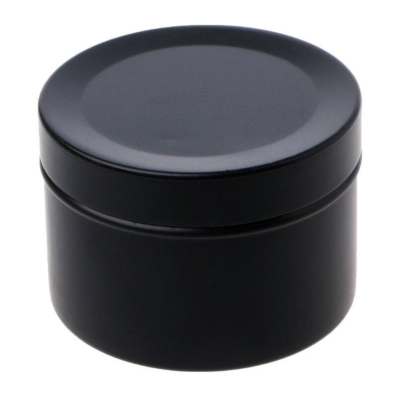 Mini caja de almacenamiento de té de lata de 50ml caja redonda de Metal caja organizadora de recuerdos de boda contenedor