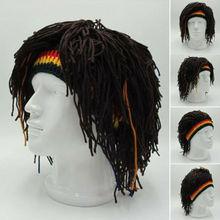Nouveauté Rasta perruque casquette bonnet chapeau jamaïque Rasta à la main casquette Reggae dreadlock afrique racines perruque Bob Marley