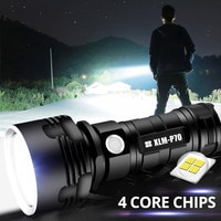 Powerful LED Flashlight XHP50 Torch USB Rechargeable Waterproof P70 Lamp Ultra Bright Zoom Torch Light 26650 Outdoors Hiking