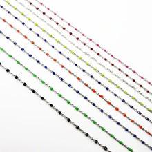 2mm femmes chaîne couleur bleue acier inoxydable classique O lien collier pour homme mode homme cadeau bijoux
