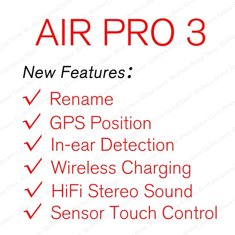 ¡Novedad! Auriculares inalámbricos TWS Air Pro 3 con Bluetooth, auriculares estéreo, supercopia 11 clon PK i12 i9000 max 2