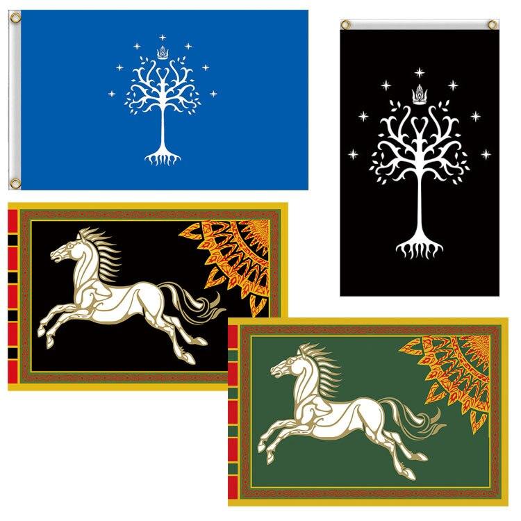 3 'x 5' 90x150 см Властелин кольцо лошадь дерево баннер флаг Astany Белое Древо Гондора толк настенный Старк домашние вечерние KTV Косплей