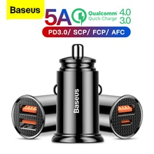 Baseus carga rápida 4.0 3.0 carregador de carro usb para iphone xiaomi huawei qc4.0 qc3.0 qc tipo automático c pd rápido carro carregador de telefone móvel
