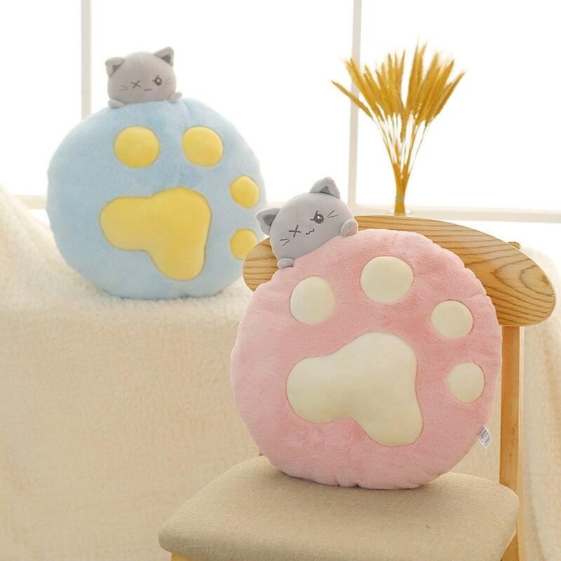 Милые плюшевые игрушки для кошек, 1 шт., 35 см, мягкие животные и плюшевые игрушки, мягкая подушка для кошки, мягкая кукла для кошки, для детей, п...