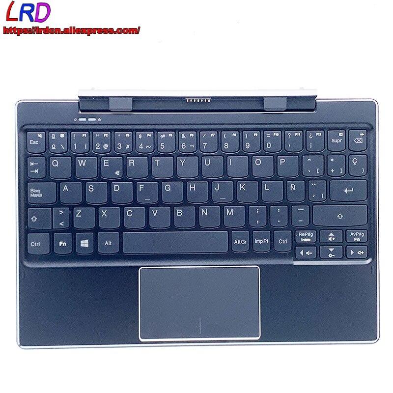 ES لوحة المفاتيح الخارجية الإسبانية لرسو السفن جديد الأصلي مع Palmrest لينوفو Ideapad Miix 310-10ICR اللوحي 5D20L64843