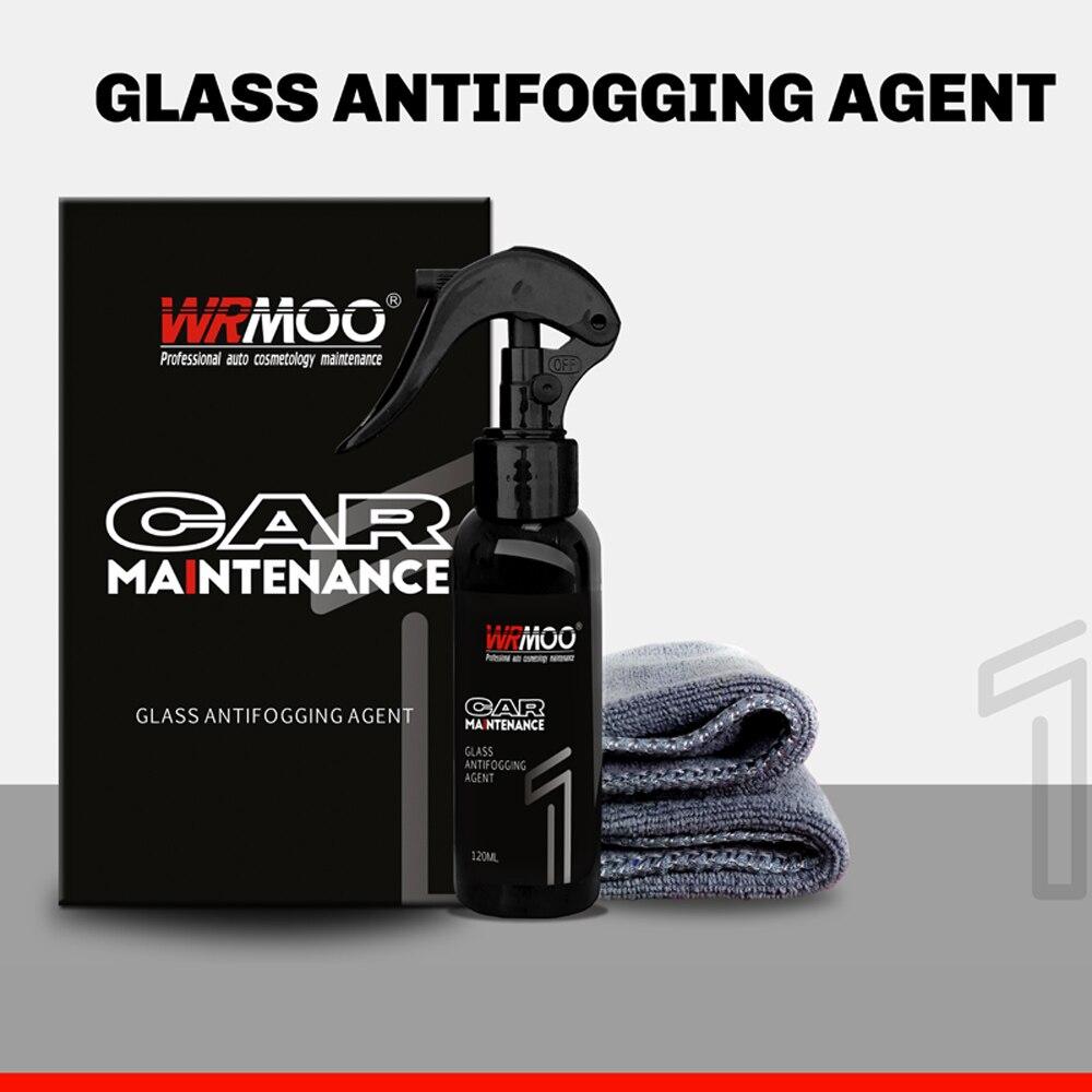 120ml Anti niebla impermeable Kit de agente de vidrio retrovisor Kit de película protectora de coche parabrisas espejo a prueba de lluvia limpiador Auto Accesorios