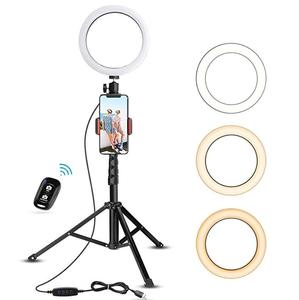Phone Tripod, UBeesize 50'' Extendable Lightweight Aluminum Tripod Stand with Universal Cell Phone/Tablet Holder, Remote Shutter