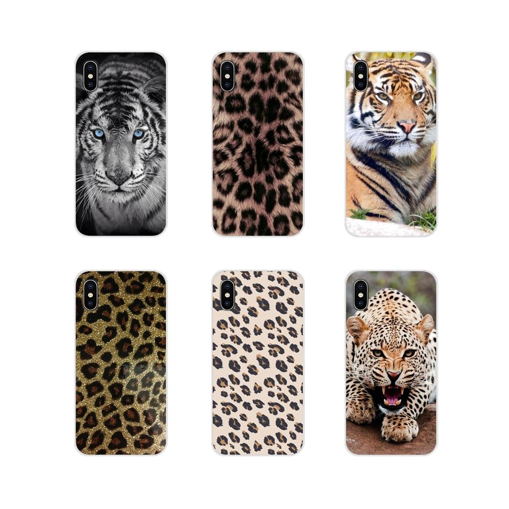 Para Huawei Honor 4C 5C 6X 7 7A 7C 8 9 10 8C 8S 8X 9X 10I 20 Lite Pro accesorios cubiertas de los casos del teléfono leopardo tigre de impresión