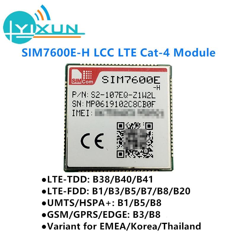 Simcom SIM7600E-H lcc lte cat4 módulo LTE-TDD b38/b40/b41 LTE-FDD b1/b3/b5/b7/b8/b20 umts/hspa + b1/b5/b8 gsm/gprs/borda b3/b8