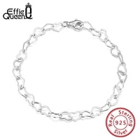 effie queen italian 5mm rolo heart link chain sterling silver bracelet for women girls 6 5 7 7 5 8 inches made in italy sb99
