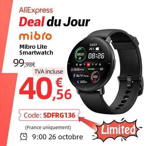 [العالم الأول] ميبرو لايت Smartwatch الرجال النساء 1.3 بوصة Amoled حامل شاشة متعددة اللغات ساعة ذكية Glabal الإصدار