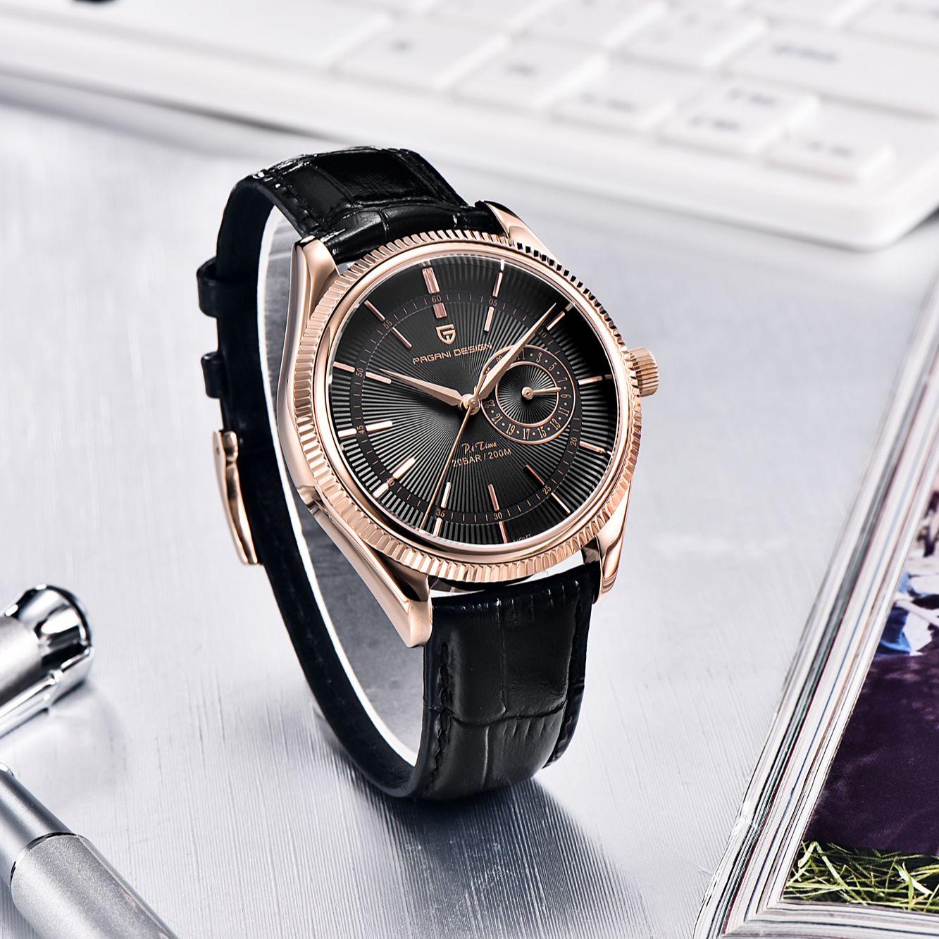 2021 New PAGANI Design Men Watch Stainless Steel Quartz Watch Sapphire Automatic 200m Waterproof Clock Luxury Relogio Masculino enlarge