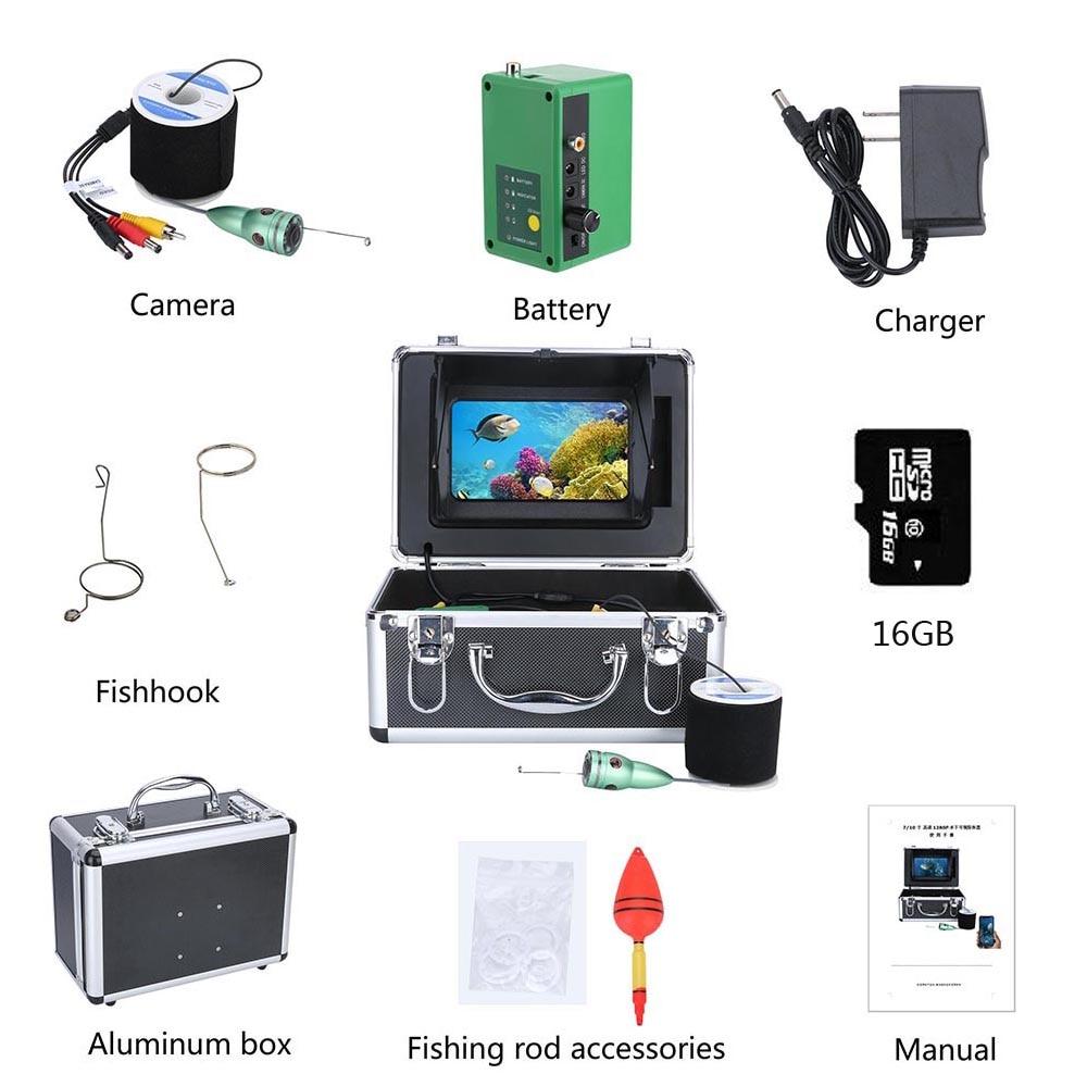 7 Inch WIFI Wireless Fish Finder Underwater Fishing Camera Kit 16GB Video Recording DVR 6W IR /White LED Fishing Camera enlarge