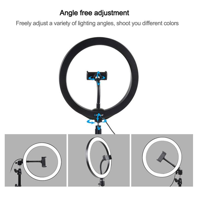 4 7 Inch 12cm USB LED Selfie Three-speed Cold Warm Stepless Lighting Dimmable LED Ring Vlogging Photography Video Lights