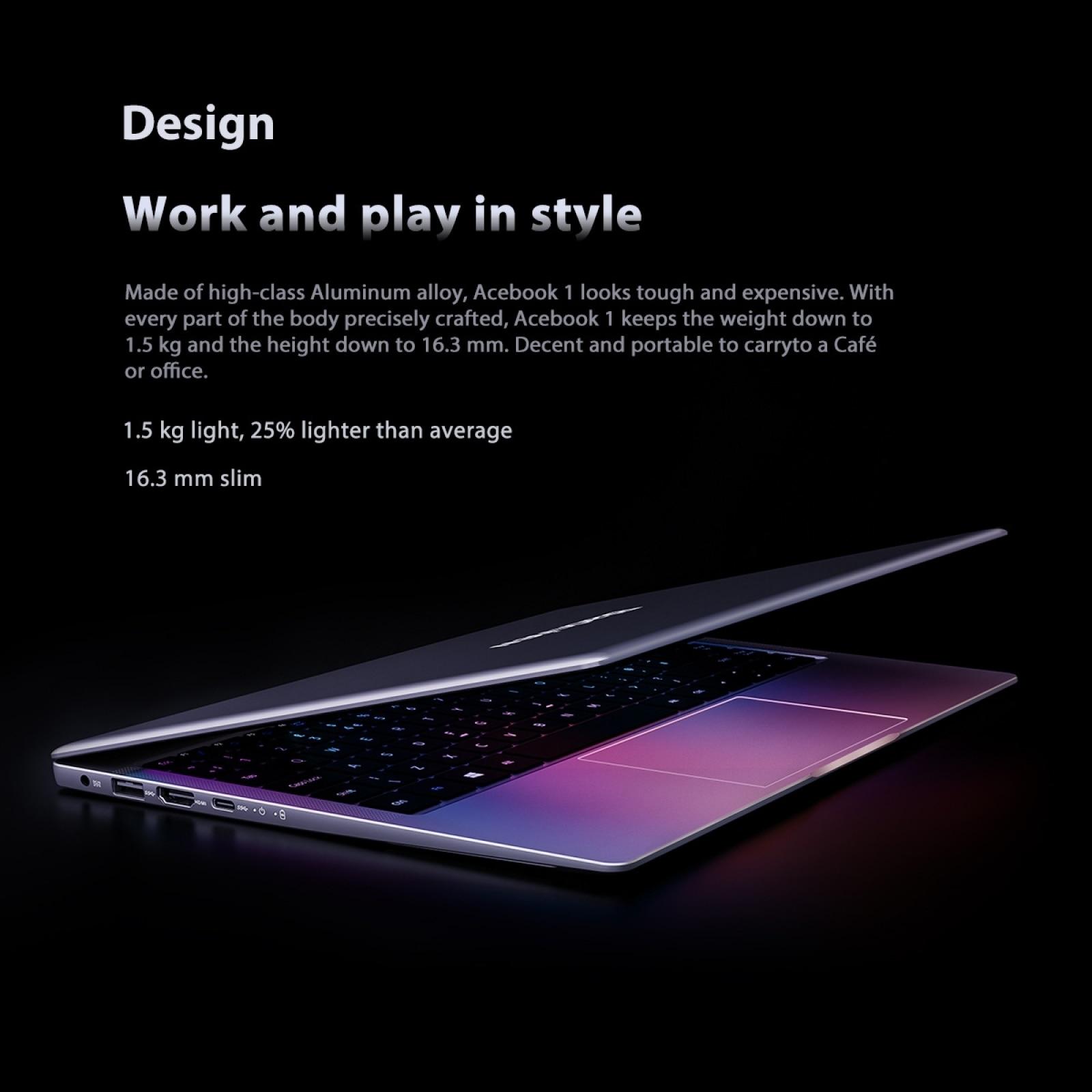 Blackview Acebook 1 Laptop 14 inch IPS 1920*1080 Display Windows 10 4GB+128GB SSD Intel Gemini Lake N4120 Notebook Computer