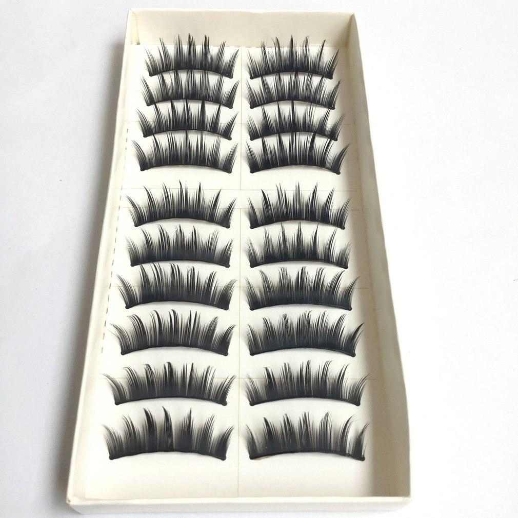 20pcs/set Cotton Stalk Eyelashes False Natural Long Black Fake Makeup Tool Eyelash Extension Eye Lashes